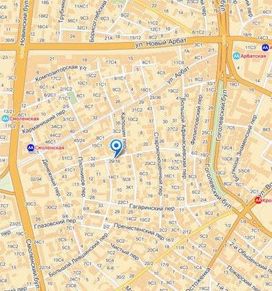 Карта местонахождения ИРЭИ